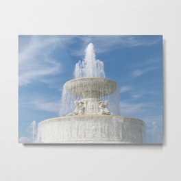 Belle Isle Fountain Top Metal Print