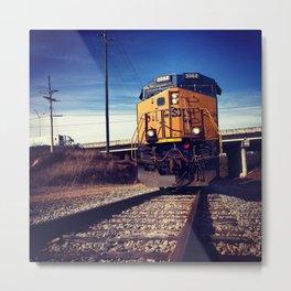 Rustic America: Lost Train Conductor  Metal Print
