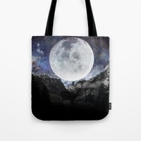 starry night Tote Bags featuring Starry night by emegi