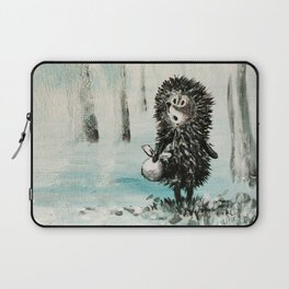 Hedgehog in the fog Laptop Sleeve