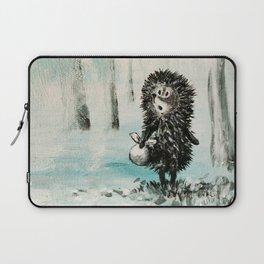 Hedgehog in the fog Laptop Sleeve