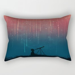 Meteor rain Rectangular Pillow