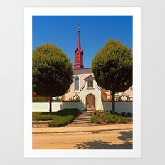 The cemetary church of Schlaegl III | architectural photography Art Print