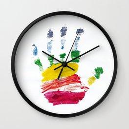 Pride Hand Print Wall Clock