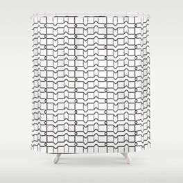 Black and white grid Shower Curtain