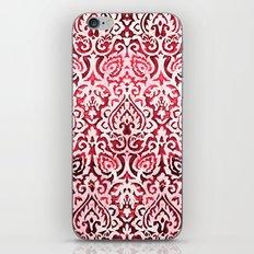 Dark pink baroque iPhone & iPod Skin