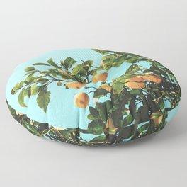 Summer Orange Tree Floor Pillow