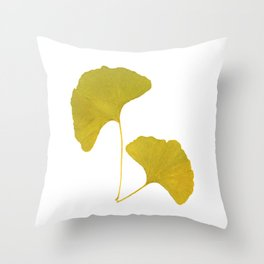 Ginkgo Leaves... Throw Pillow