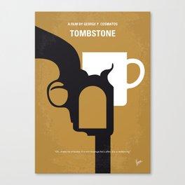 No596 My Tombstone minimal movie poster Canvas Print