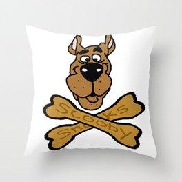 Cartoon Dog Punk Throw Pillow