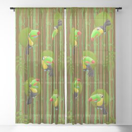 Toucan Party! Sheer Curtain