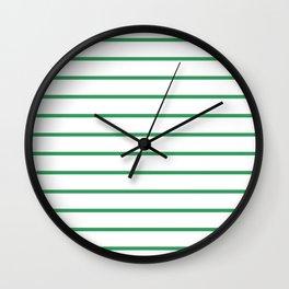 Kelly Green Breton Stripes Wall Clock