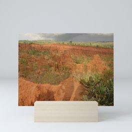 New York Sandstone Cliffs  Landscape Konso Ethiopia Africa Mini Art Print