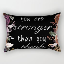 You are stronger than you think-Black Rectangular Pillow