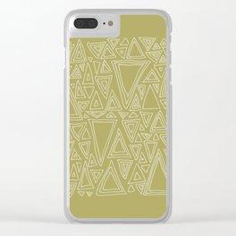 Screw You Ruler Said Triangle Clear iPhone Case