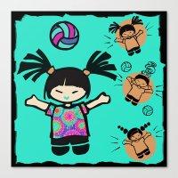 tye dye Canvas Prints featuring Tye Dye Volley Hi by KiKi Spike Volleyball Stuff!