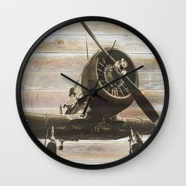 Old airplane 2 Wall Clock