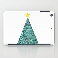 christmas tree iPad Cases featuring Christmas tree by Bridget Davidson
