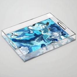 Blue marble Acrylic Tray