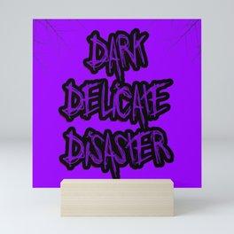 Dark Delicate Disaster Purple Typography Mini Art Print