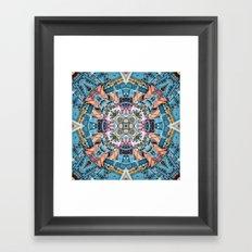 City In A Circle Framed Art Print