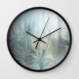 Frozen window Wall Clock
