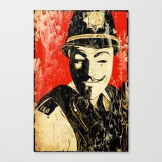 Anonymous Police Officer Canvas Print