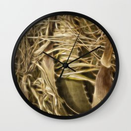 Wild Abandon Wall Clock