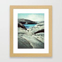 Rocky coast line Framed Art Print