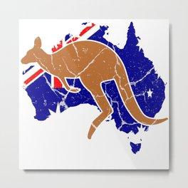 Australia Downunder Melbourne Gift Sydney Metal Print