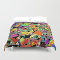 heels Duvet Covers featuring Kick Up Yer Heels by Glanoramay