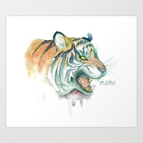 Tight Like a Tiger Art Print