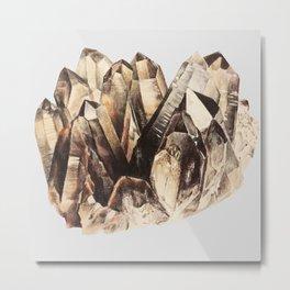 Smoky Quartz Metal Print