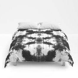Mudcloth Tie Dye in Black Comforters