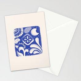Tiled - 'Bio' - Cobalt Stationery Cards