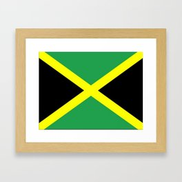 Jamaica Flag Framed Art Print