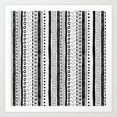 Black and White Pattern 2 Art Print