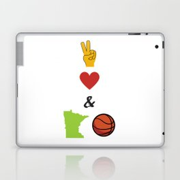 Peace, Love & Minnesota Basketball Laptop & iPad Skin