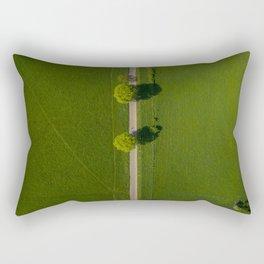 germany grass vertical view hattingen forrest drone green kemnade street trees Rectangular Pillow