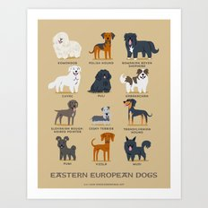 EASTERN EUROPEAN DOGS Art Print