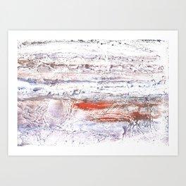 Orange purple clouded watercolor Art Print
