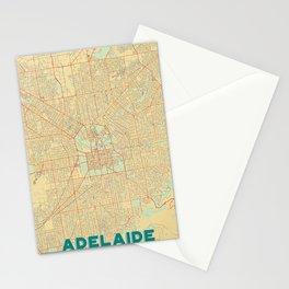 Adelaide Map Retro Stationery Cards