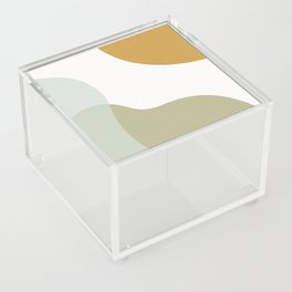 Abstract Shapes Illustration - Green Acrylic Box