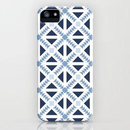 Geo Stamp Blue iPhone Case