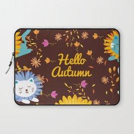 Cats Autumn Pattern Laptop Sleeve