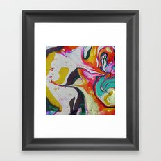 marble red&gold Framed Art Print