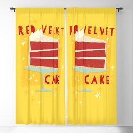 All American Classic Red Velvet Cake Blackout Curtain