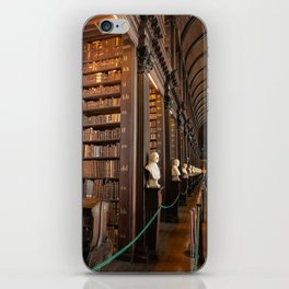 The Long Room of Trinity College Library in Dublin, Ireland iPhone Skin