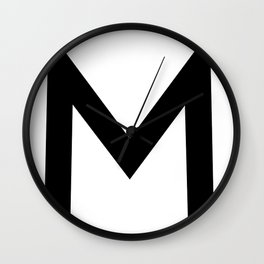 Alphabet M Wall Clock