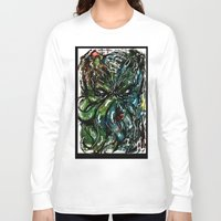cthulu Long Sleeve T-shirts featuring Johnny Cthulhu by J.M. Hunter